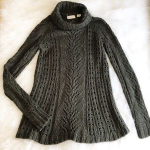 Anthropologie Sweaters - Sleeping on Snow • Cable Turtleneck Sweater